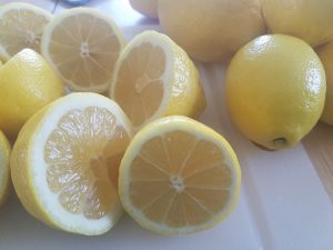 We use fresh squeezed lemon juice